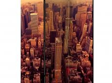 Paraván - Bird Eye View Of Manhattan, New York [Room Dividers]